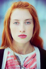 Portrait of a beautiful redhead girl