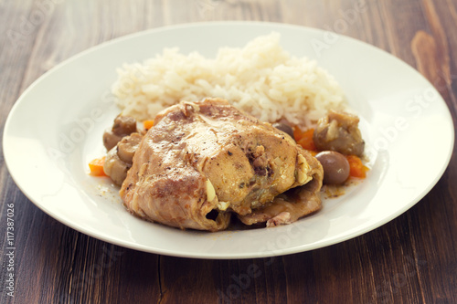 Rabbit Stew With Mushrooms Recipe — Dishmaps