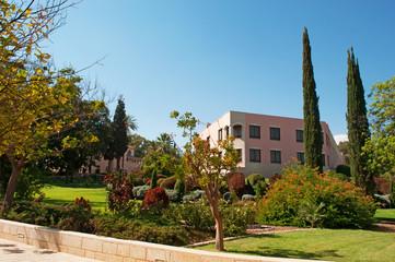 Tabga, Israele: i giardini sul Monte delle Beatitudini, dove Gesù avrebbe pronunciato il discorso della Montagna con le 8 beatitudini, il 3 settembre 2015