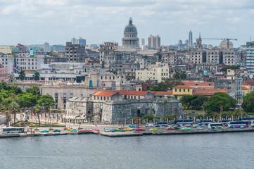 Garden Poster Havana View of the Capitolio and surroundings in Havana, Cuba