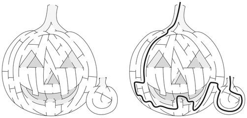 Jack O' Lantern maze