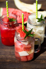 Watermelon and melon drink