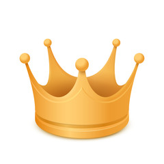 Gold crown. Isolated on a white background.