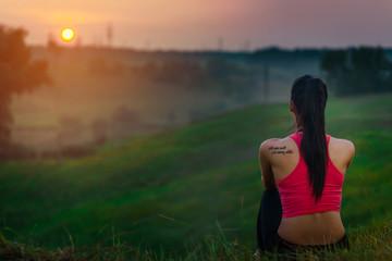 girl sunset