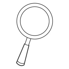 flat design cartoon magnifying glass icon vector illustration