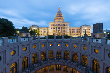 Texas state capitol at sunset, Austin , Texas, USA