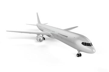 Blank Airplane Background - Mockup 3D illustration