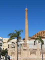 Espagne - Andalousie - Cadix - Ancienne manufacture de tabac et sa cheminée