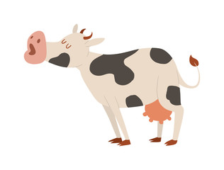 Cartoon cow character isolated