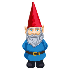 Illustration of garden gnome