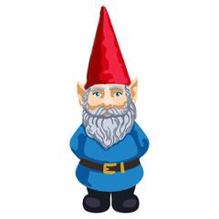 Illustration of garden gnome
