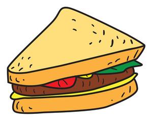 Sliced Sandwich Doodle