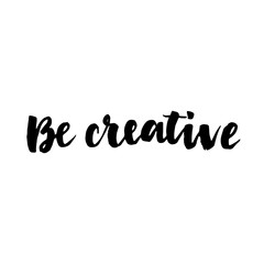 Be creative lettering card.