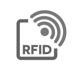 RFID tag icon. Radio Frequency Identification symbol