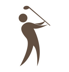 golfer silhouette player isolated icon