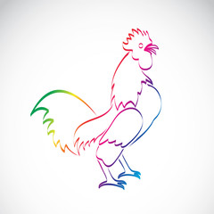 Vector of a cock design on a white background.
