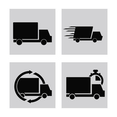 Delivery and Shipping concept represented by truck icon. Isolated and flat illustration.