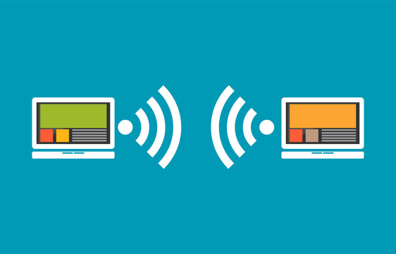 Wireless communication between devices.