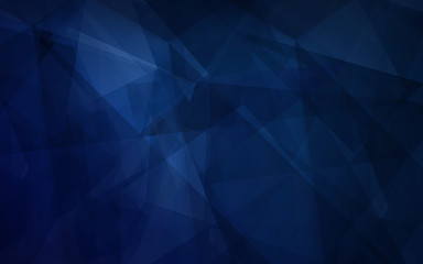 Dark blue color abstract polygonal background