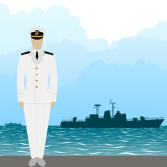 Navy US Army officer