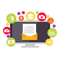 Email marketing. Email contents. Multimedia social email.