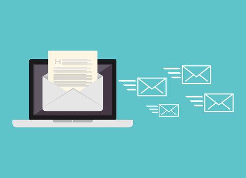 Sending messages. Sending email.