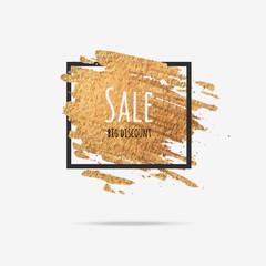 Gold sale background in frame.