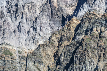 texture of the cliff