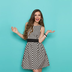 Excited Woman With Arms Outstretched