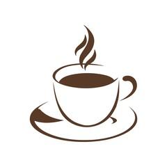 Coffee&tea logo symbol vector
