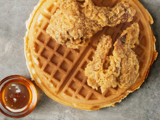 rustic southern american comfort food chicken waffle