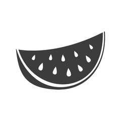 Watermelon icon. Watermelon Vector isolated on white background. Flat vector illustration in black. EPS 10