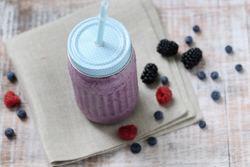 jar with smoothie