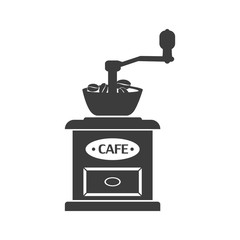 Coffee grinder mill icon. Coffee grinder mill Vector isolated on white background. Flat vector illustration in black. EPS 10