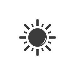 Sun icon. Sun Vector isolated on white background. Flat vector illustration in black. EPS 10