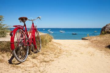 Plage de Noirmoutier et ses vélos