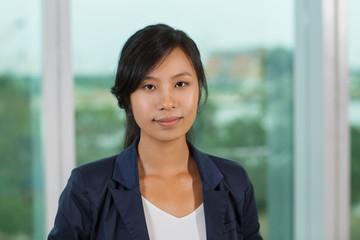 Portrait of Businesswoman at Window 1