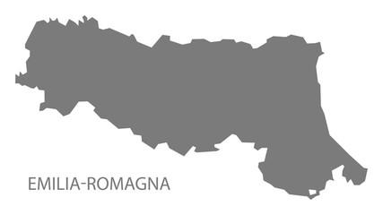 Emilia-Romagna Italy Map grey