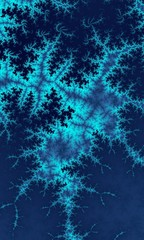 Abstract frosty pattern, Blue fractal
