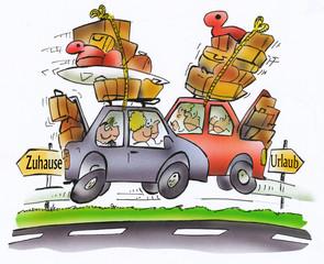 Ferienbeginn und Ferienende - viel los auf den Straßen