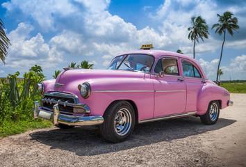 pink cuban car