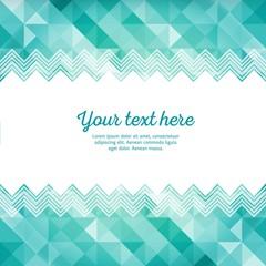 Turquoise geometric template