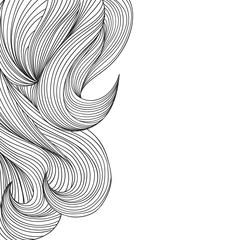 Sketchy wavy hair background