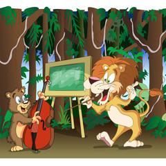 lion teachers music class