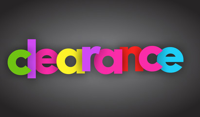 clearance letters vector word banner sign