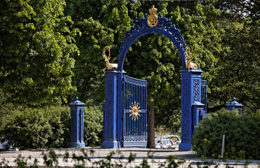 Blue Gate on the island of Djurgarden. Stockholm. Sweden