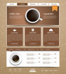 Template coffee web site