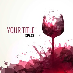 Wine splashes background