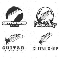 Guitar shop logotypes