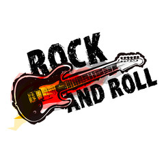 Rock and roll logotype